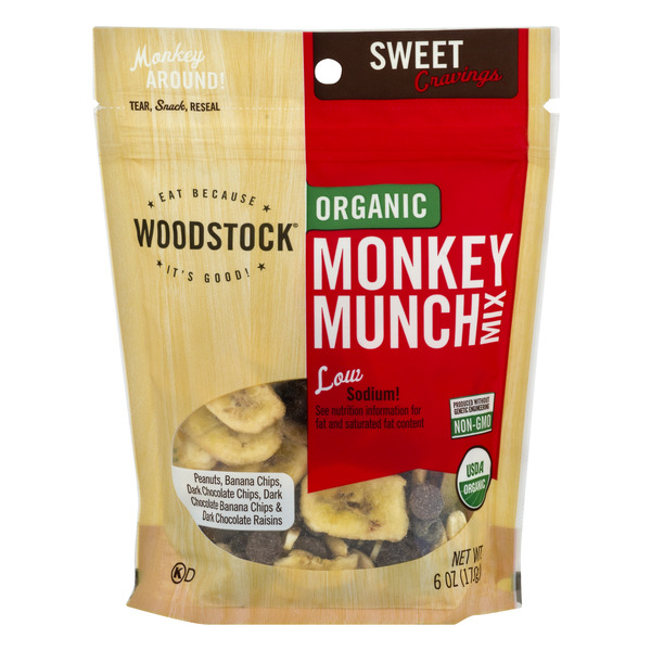 Woodstock Sweet Cravings Monkey Munch Mix Organic