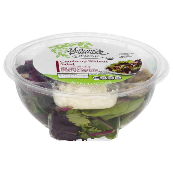 Nature's Promise Organic Salad Bowl Cranberry Walnut