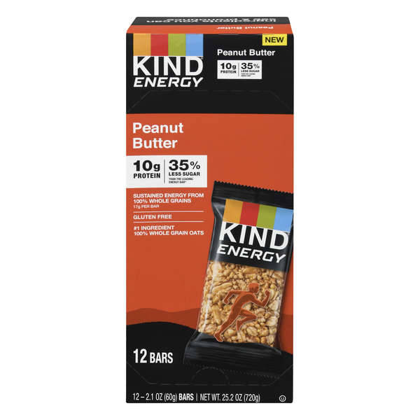 KIND Energy Bars Peanut Butter Gluten Free - 12 ct