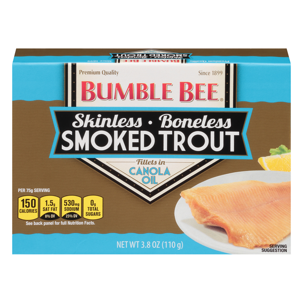Bumble Bee Skinless Boneless Smoked Trout Fillets in Canola Oil