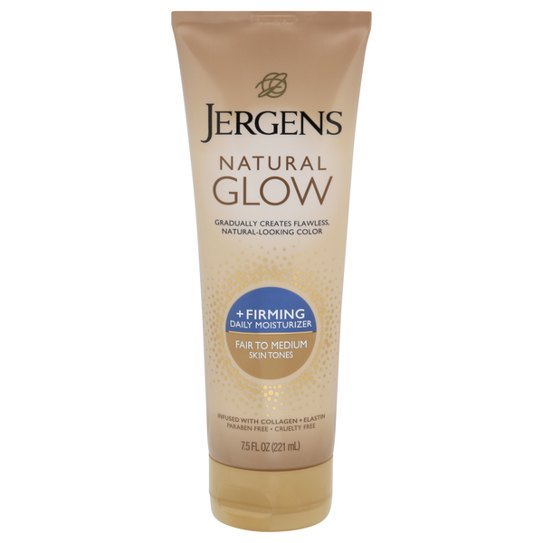 Jergens Natural Glow +FIRMING Daily Moisturizer Fair to Medium Skin Tones
