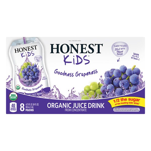 Honest Kids Goodness Grapeness Juice Drink Organic - 8 pk