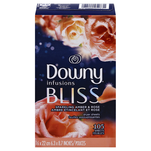 Downy Infusions Fabric Softener Sheets Amber Blossom