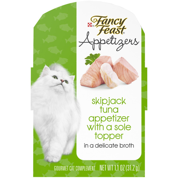 Fancy Feast Appetizers Cat Complement Skipjack Tuna with Sole Topper