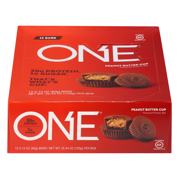 ONE Protein Bar Peanut Butter Cup Gluten Free - 12 ct
