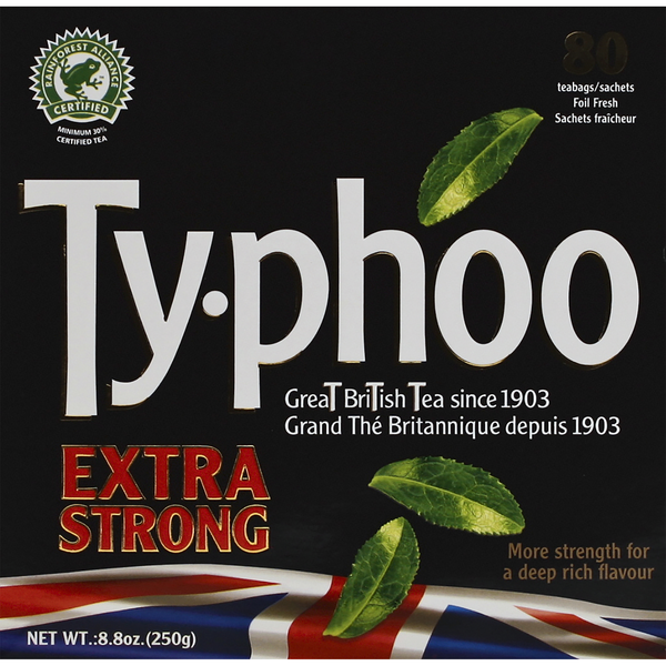 Ty-phoo Teabags Extra Strong - 80 ct