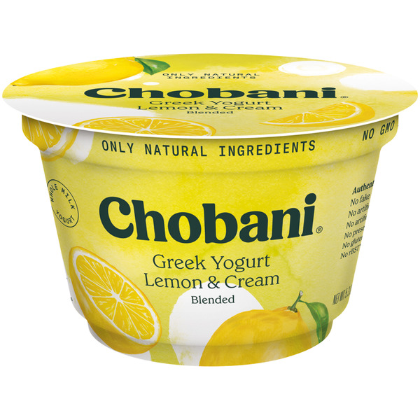Chobani Greek Yogurt Lemon & Cream Blended Whole Milk