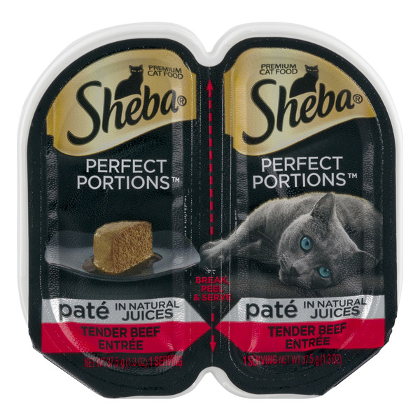Sheba Perfect Portions Wet Cat Food Pate Tender Beef Entree - 2 ct