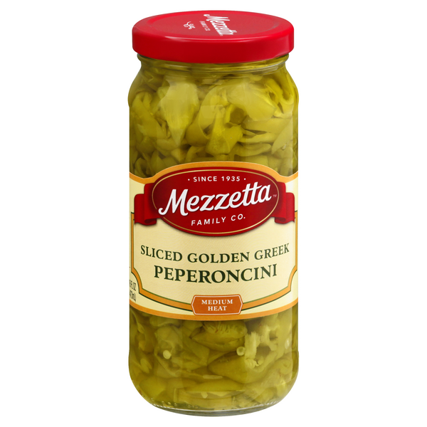 Mezzetta Pepperoncini Golden Greek Deli-Sliced