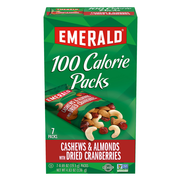 Emerald 100 Calorie Packs Cashews & Almonds & Dried Cranberries - 7 ct
