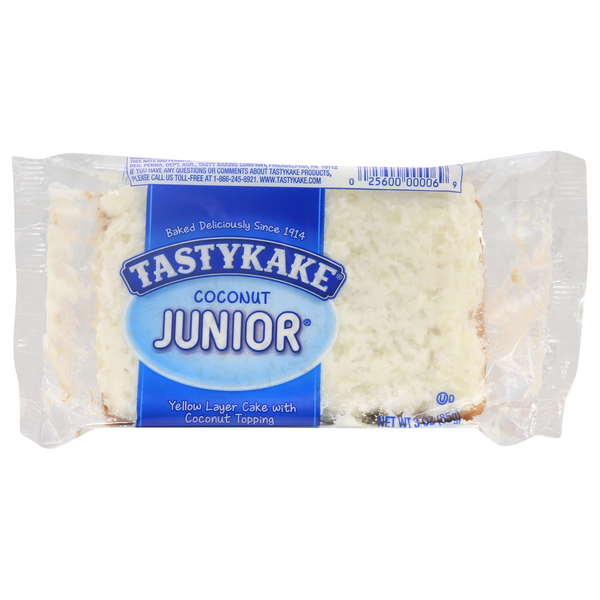 Tastykake Coconut Junior Cake Yellow Layer Coconut Topped Single Serve