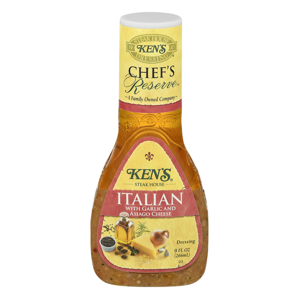 Ken's Chef's Reserve Dressing Italian with Garlic & Asiago Cheese