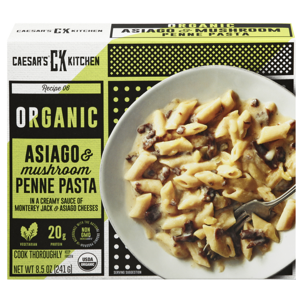 Caesar's Kitchen Organic Goodness Penne Pasta Asiago Mushroom