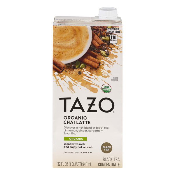 Tazo Chai Latte Spiced Black Tea Concentrate Organic