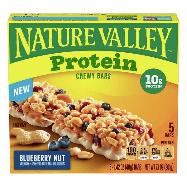 Nature Valley Protein Chewy Bars Blueberry Nut - 5 ct