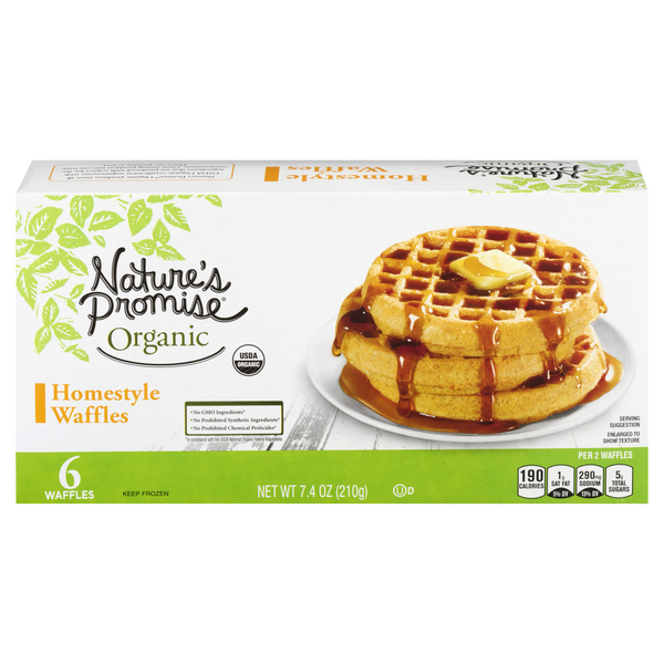 Nature's Promise Waffles Homestyle Organic - 6 ct