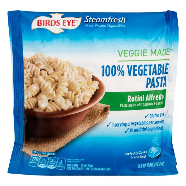 Birds Eye Steamfresh Veggie Made 100% Vegetable Pasta Rotini Alfredo