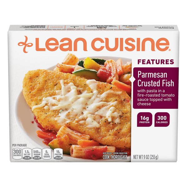 Lean Cuisine Features Parmesan Crusted Fish Alaska Pollock
