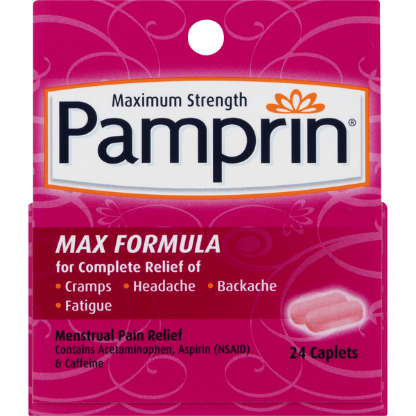 Pamprin Max Menstrual Pain Relief Maximum Strength Caplets