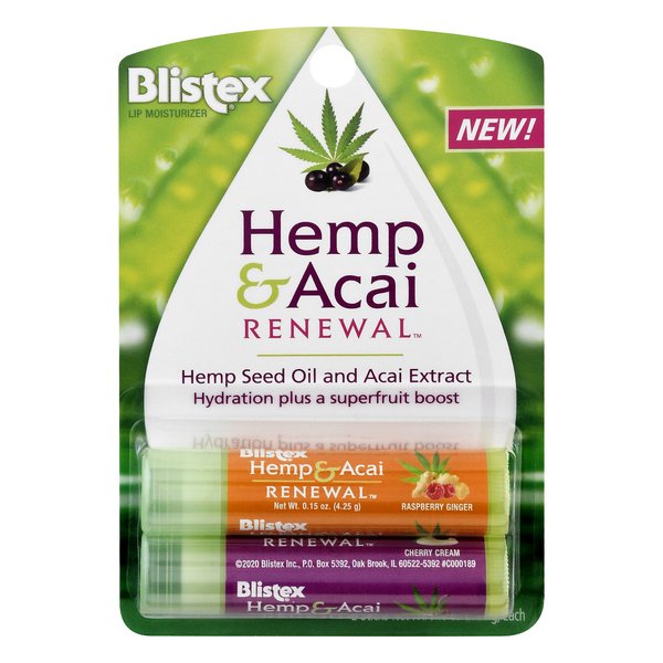 Blistex Lip Moisturizer Hemp & Acai Renewal - 2 ct