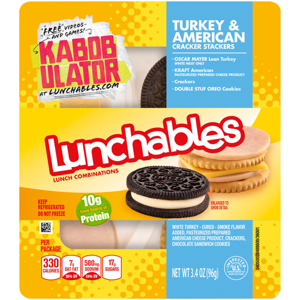 Lunchables Lunch Combinations Turkey & American Cracker Stackers