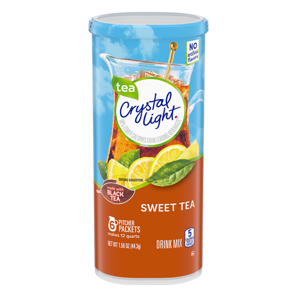 Crystal Light Drink Mix Pitcher Packs Sweet Tea - 6 ct