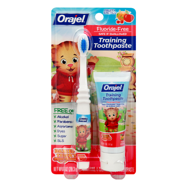 Orajel Training Toothpaste & Brush Daniel Tiger's Tooty Fruity