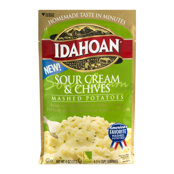 Idahoan Mashed Potatoes Sour Cream & Chives