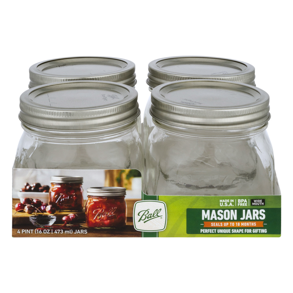 Ball Collection Elite Platinum Contemporary Style Jars 16 oz