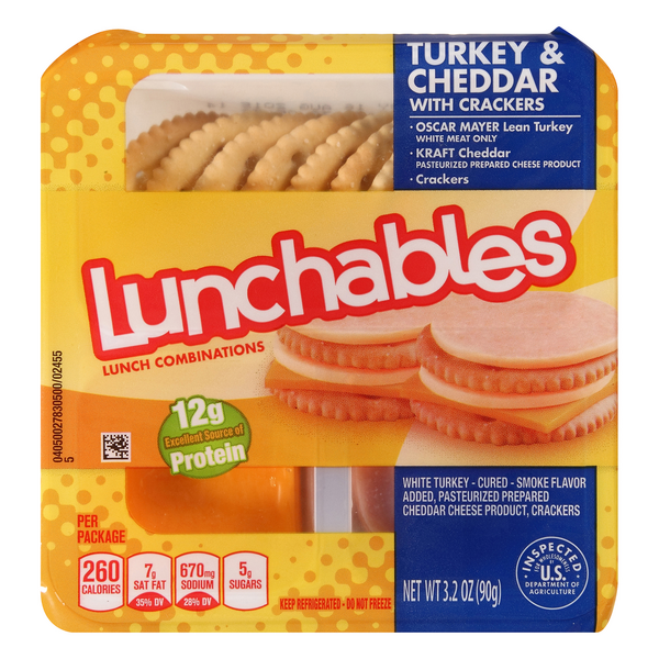 Lunchables Lunch Combinations Turkey & Cheddar with Crackers