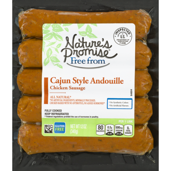 Nature's Promise Free from Chicken Sausage Cajun Style Andouille - 5 ct