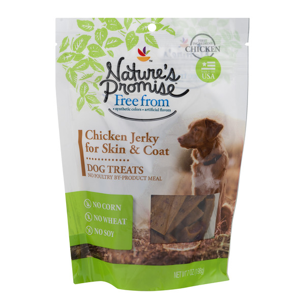 Nature's Promise Dog Treats Chicken Jerky For Skin & Coat
