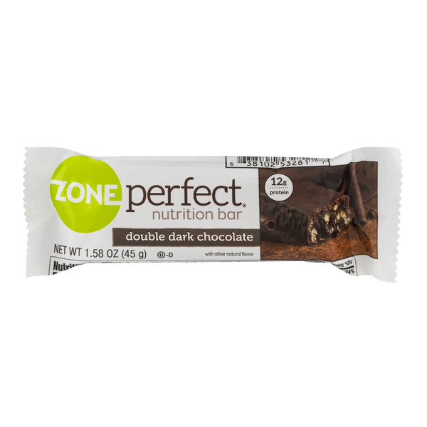 ZonePerfect Nutrition Bar Double Dark Chocolate