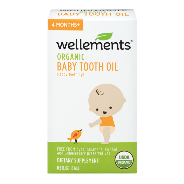 Wellements Organic Baby Tooth Oil 4 Months+