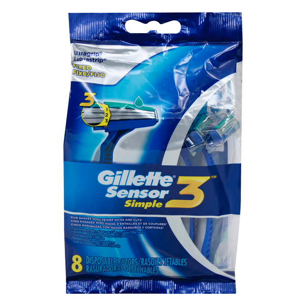 Gillette Sensor3 Simple Razors Disposable