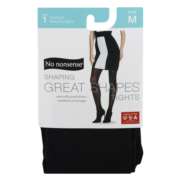 No Nonsense Great Shapes Tight Size M Black Opaque