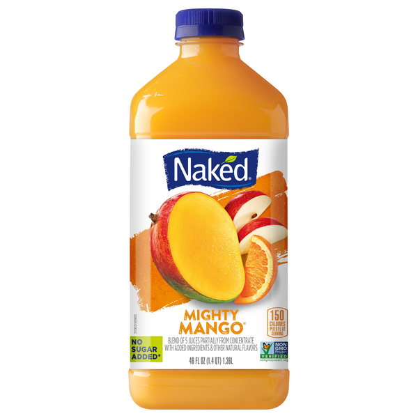 Naked Mighty Mango Fruit Smoothie No Sugar Added Fresh