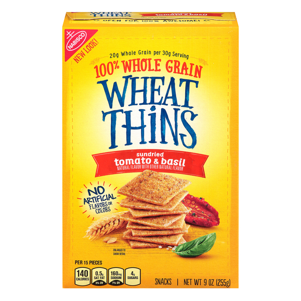 Nabisco Wheat Thins Crackers Sun Dried Tomato & Basil