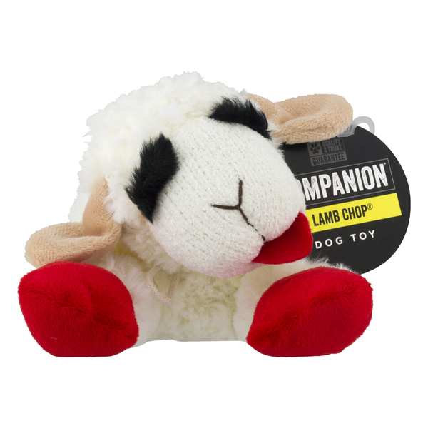 Companion Lamb Chop Plush Dog Toy