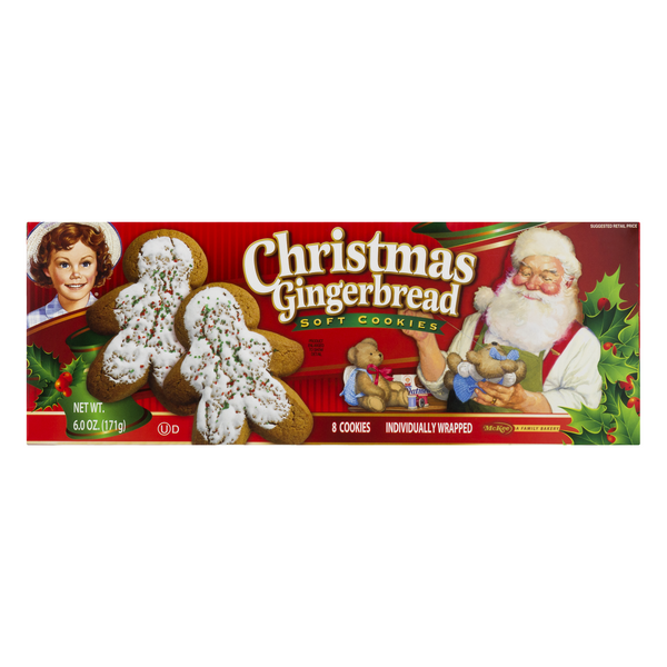 Little Debbie Cookies Christmas Gingerbread Soft Baked - 8 ct