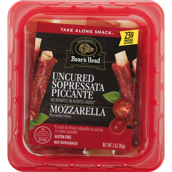 Boar's Head Take Along Snack Sopressata Picante & Mozzarella Cheese