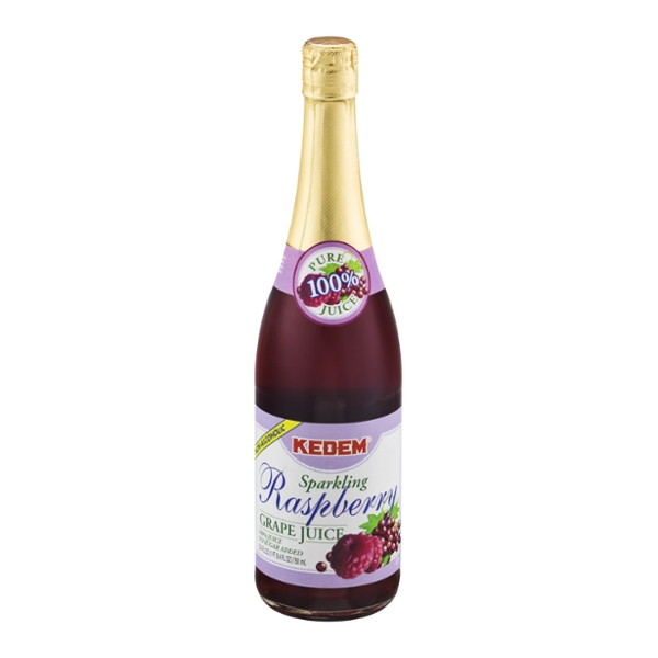 Kedem Sparkling Raspberry Juice Non-Alcoholic Kosher for Passover