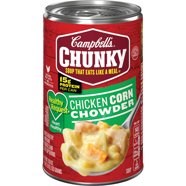 Campbell's Chunky Healthy Request Chicken Corn Chowder Soup