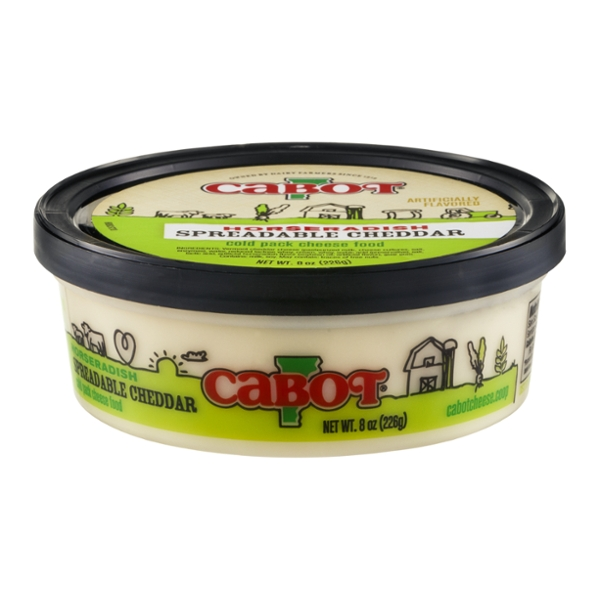 Cabot Spreadable Cheese Cheddar Horseradish