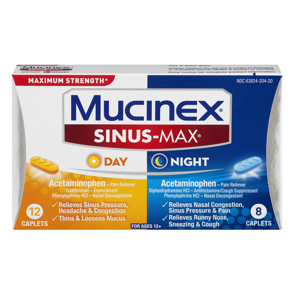 Mucinex Sinus-Max Day & Night Maximum Strength Caplets