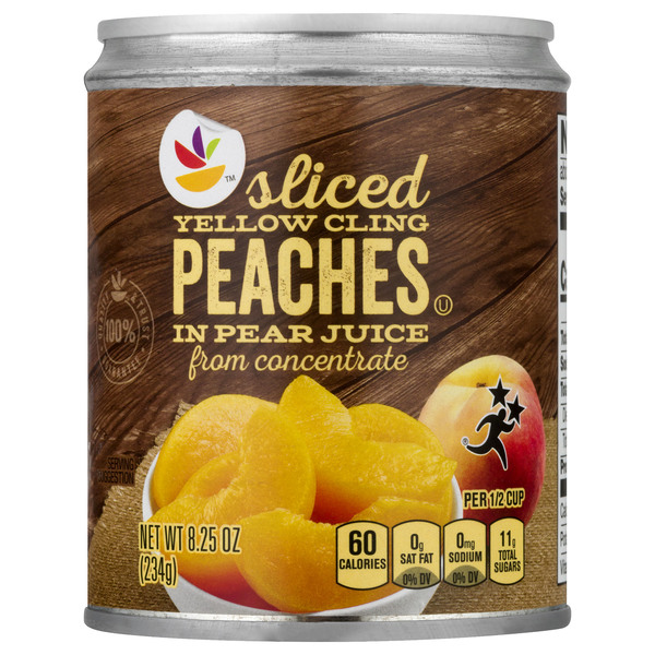 MARTIN'S Peaches Cling Sliced in Pear Juice