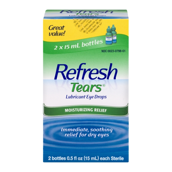 Refresh Tears Moisture Drops for Dry Eyes - 2 ct
