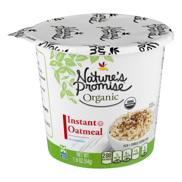 Nature's Promise Organics Instant Oatmeal Cup Original