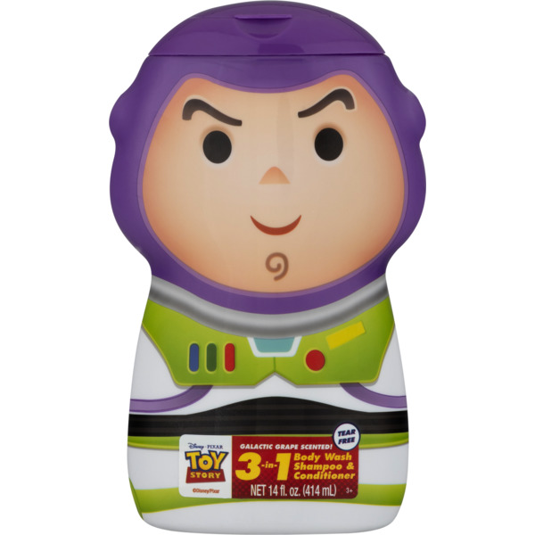 Disney Pixar Toy Story Body Wash Shampoo & Cond 3-In-1 Galactic Grape