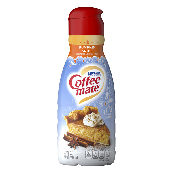 Nestle Coffee-mate Liquid Coffee Creamer Pumpkin Spice Refrigerated